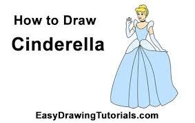 draw cinderella body disney drawing tutorials