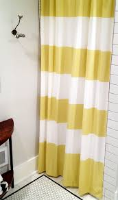 Gorgeous Shower Curtain by Bathroom 2017 Cute White Shower Curtain Impressive Yellow Lined