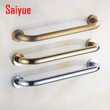 luxury brass bathroom shower grab bar support rail handle chrome