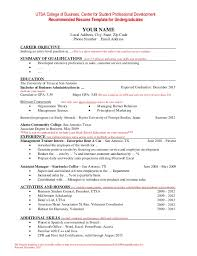 resume sle for management trainee positions resume template for undergraduate students