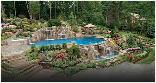 Backyard Pool Landscaping Pictures by Backyards Cool Enchanting Pool In A Small Backyard Images Design