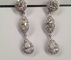 fancy earing 14kt diamond fancy shape custom earrings susie ambrose designs