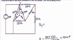 delta wye y u0026 wye delta y transform example 4
