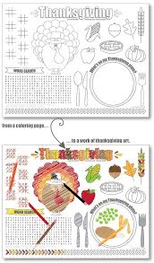 printable thanksgiving placemats kids free live craft eat
