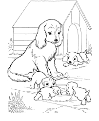 color pages of dogs kids coloring