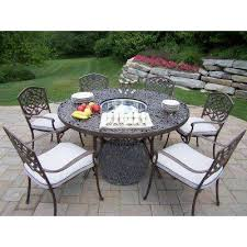Patio Table 6 Chairs 6 7 Person Round Patio Dining Furniture Patio Furniture