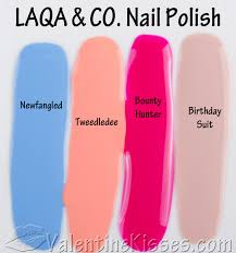valentine kisses laqa u0026 co nail polish 4 shades nail polish