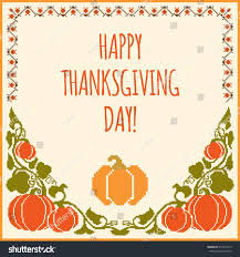 embroidered pumpkins thanksgiving day card stock vector 515041819