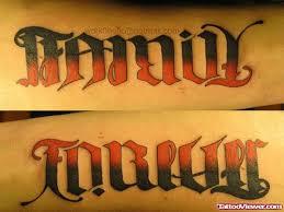 family forever ambigram viewer com