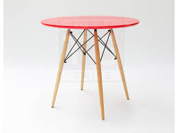 Replica Eames Dining Table Dsw Dining Table Eames Replica Red 80cm Side Tables Tables
