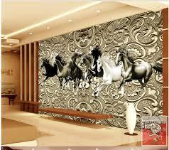 papier peint chevaux pour chambre 3d papier peint pour chambre chevaux salon toile de fond relief en