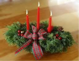 Centerpieces Christmas - highland 3 candle centerpiece christmas centerpiece
