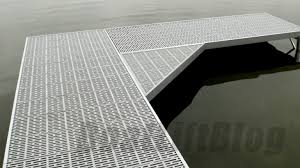 thru flow composite decking material for waterfront docks boat