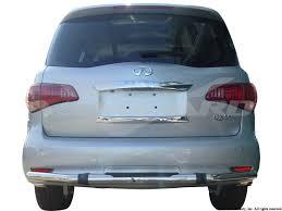 infiniti qx56 uk vanguard 11 15 qx56 qx80 rear bumper protector guard single tube s s