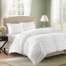 White Duvet Cover Queen Cotton Bedroom Bring Luxury To Your Bed With Cool Ruched Duvet Cover