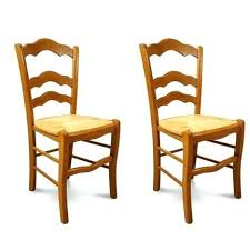 chaise en bois et paille chaise bois et paille hellin lot de 2 chaises bois massif oxford