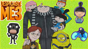 despicable me 3 colouring book pages coloring gru family and