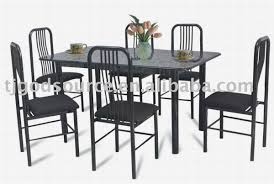 Marble Bistro Table Vintage Outdoor Dining Room With Coated Iron Restaurant Chairs
