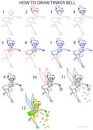 draw tinkerbell step step pictures cool2bkids
