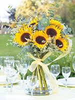 sunflower centerpieces luxe and tux sunflower centerpieces
