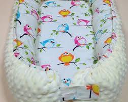baby nest double sided white grey crib bedding