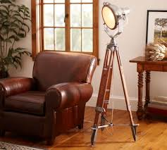 Spotlight Floor Lamp Cranfield Metal Tripod Spotlight Floor Lamp Houseology Collection