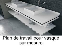 salle de bain plan de travail vasques plan vasque plan de travail sur mesure en solid surface
