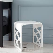 Stool For Bathroom Shower Seats Benches U0026 Stools Signature Hardware