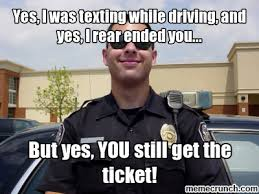 Texting While Driving Meme - i was texting while driving and yes i rear ended you