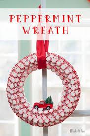 candy wreath peppermint candy wreath tutorial