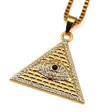 2015 men s jewelry 8mm 60cm new arrival power necklaces new arrival gold illuminati eye of horus pyramid with