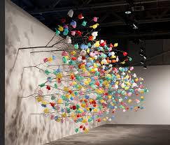 pascale marthine tayou grows plastic tree at basel 2015