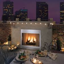 outdoor gas fireplace insert with optional door kit fireplaces