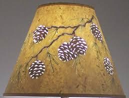 custom l shades online l shades custom made handmade reverse painted cut pierced pine