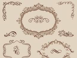 collection of sketches wedding frame free vectors ui