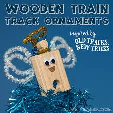 book inspired wooden train track christmas ornament play trains