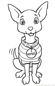 coloring page of a big dog chihuahua coloring page
