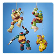 mutant turtles ornament set