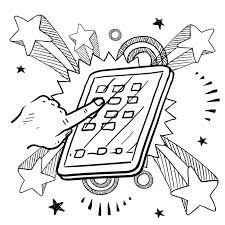 mobile device sketch stock vector image of computer 24689812