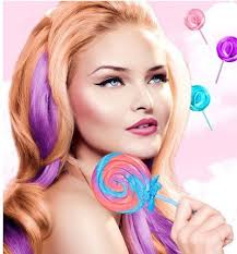 hair candy extensions candy colored hair extensions stylist
