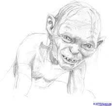 lord of the rings coloring pages gollum youtuf com