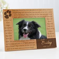 dog memorial personalized pet memorial picture frame 4x6 pet gifts