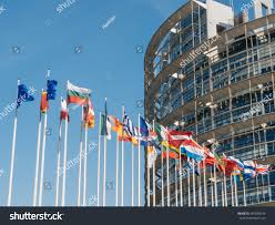 Why Are The Flags Flying Half Mast European Union United Kingdom Flags Fly Stock Foto 647649334