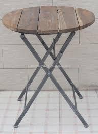 round wooden folding table small round wooden garden table cori matt garden