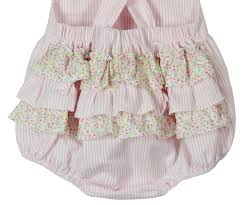 Vintage Style Baby Clothes Claire And Charlie Pink Ruffle Bottom Sunsuit Baby Girls Pink