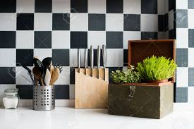 Kitchen Interior Decor Kitchen Utensils Decor And Kitchenware In The Modern Kitchen