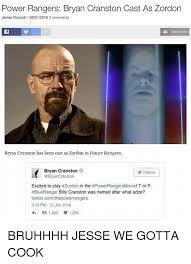Bryan Cranston Memes - power rangers bryan cranston cast as zordon james viscardi 06212016