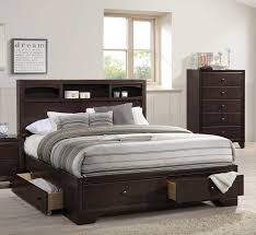 King Storage Bed Frame Acme Madison Ii Eastern King Bed W Storage Espresso 19557ek