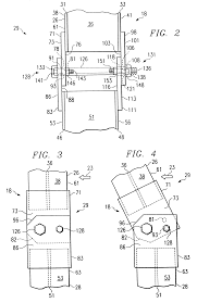 patent us6619630 breakaway support post for highway guardrail