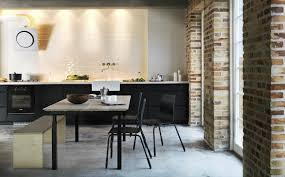 black white yellow black white and wood kitchen inspiration